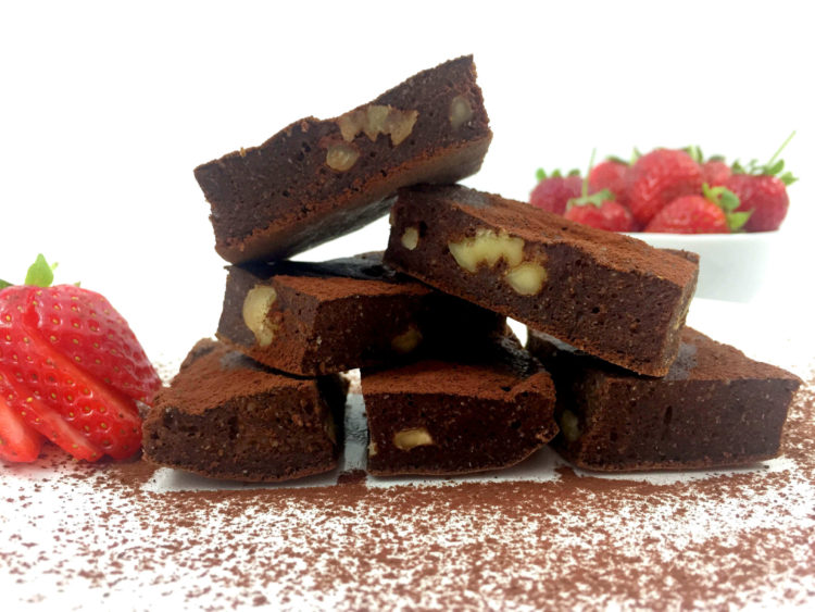brownie fit a la sartén